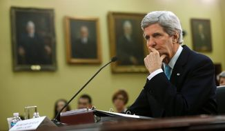 Secretary of State John F. Kerry says restoration of U.S. military aid to Egypt depends largely Cairo's progress making reforms. (Associated Press)