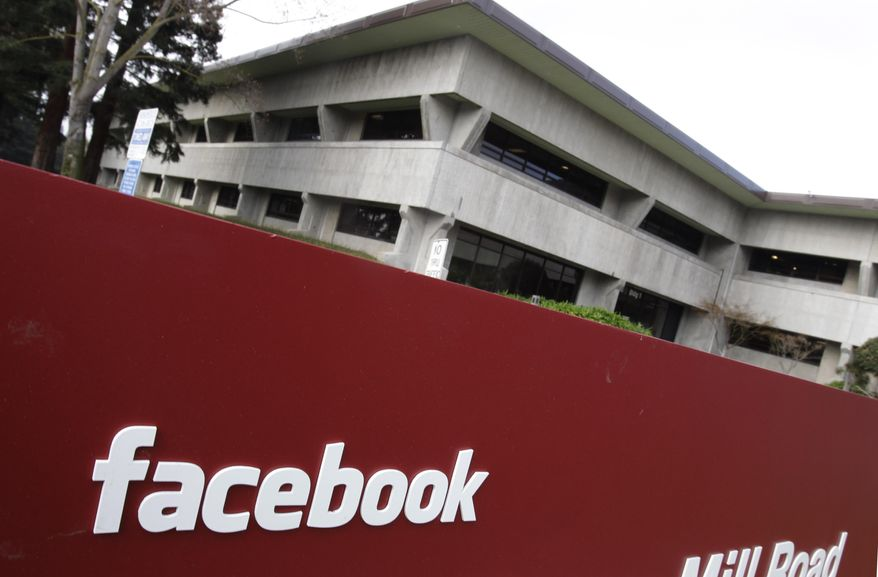 FILE - A Jan. 3, 2011 file photo shows the Facebook headquarters in Palo Alto, Calif. Police flooded Facebook's headquarters Tuesday March 11, 2014 in Northern California to investigate a threat they later found wasn't credible.  (AP Photo/Paul Sakuma, File)