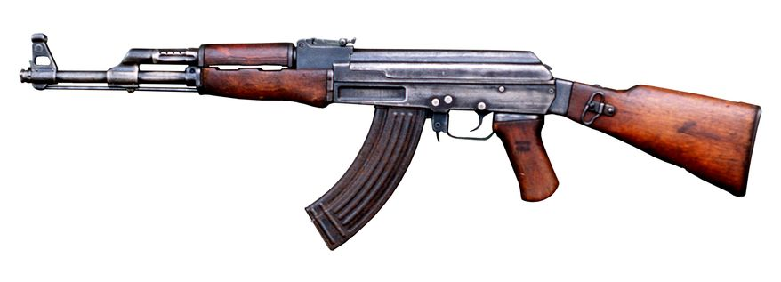 """The AK-47 is a selective-fire, gas-operated 7.62×39mm assault rifle, first developed in the Soviet Union by Mikhail Kalashnikov. It is officially known as Avtomat Kalashnikova (Russian: Ðвтомат Калашникова). It is also known as Kalashnikov, AK, or in Russian slang, Kalash.Design work on the AK-47 began in the last year of World War II (1945). After the war in 1946, the AK-46 was presented for official military trials. In 1948 the fixed-stock version was introduced into active service with selected units of the Soviet Army. An early development of the design was the AKS (S—Skladnoy or """"folding""""), which was equipped with an underfolding metal shoulder stock. In 1949, the AK-47 was officially accepted by the Soviet Armed Forces and used by the majority of the member states of the Warsaw Pact. The weapon was supplied to Nicaraguan Sandinistas, Viet Cong as well as Middle Eastern and Asian revolutionaries. More recently they have been seen in the hands of Islamic groups such as the Taliban and Al-Qaeda in Afghanistan and Iraq.The original AK-47 was one of the first assault rifles of 2nd generation, after the German StG 44.[11] Even after six decades the model and its variants remain the most widely used and popular assault rifles in the world because of their durability, low production cost, availability, and ease of use. It has been manufactured in many countries and has seen service with armed forces as well as irregular forces worldwide. The AK-47 was the basis for developing many other types of individual and crew-served firearms. More AK-type rifles have been produced than all other assault rifles combined."""
