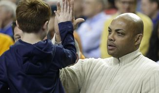 Charles Barkley, former NBA player. (AP Photo/Steve Helber)