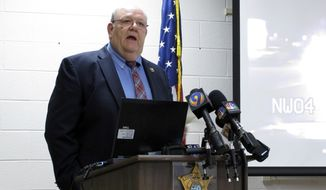 York County Sheriff Bruce Bryant speaks during a news conference on Wednesday, March 12, 2014, in York, S.C. (AP Photo/Jeffrey Collins) ** FILE **