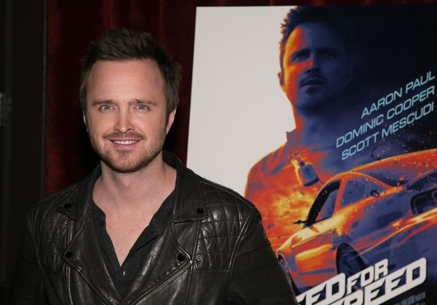 "Actor Aaron Paul attends a screening of ""Need For Speed"" on Tuesday, March 11, 2014, in New York. (Photo by Andy Kropa/Invision/AP)"