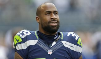 Seattle Seahawks' Brandon Browner stands before an NFL football game against the Jacksonville Jaguars, Sunday, Sept. 22, 2013, in Seattle. (AP Photo/Ted S. Warren)