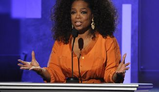 """FILE - This Feb. 22, 2014 file photo shows Oprah Winfrey speaking at the 45th NAACP Image Awards  in Pasadena, Calif. Winfrey's latest book project will be""""What I Know for Sure"""" a collection of her magazine columns she wrote for O, the Oprah Magazine. Flatiron Books, a new nonfiction imprint of Macmillan, announced Wednesday, March 12, that the book will come out Sept. 2. It will be the imprint's first release. (Photo by Chris Pizzello/Invision/AP, File)"""