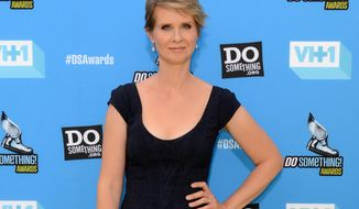 "FILE - This July 31, 2013 file photo shows actress Cynthia Nixon at the Do Something Awards  in Los Angeles. Roundabout Theatre Company said Thursday, March 13, 2014, that Nixon, who starred in the Tom Stoppard play ""The Real Thing"" when it first came to Broadway in 1984, will come back this fall in a revival with Ewan McGregor and Maggie Gyllenhaal. (Photo by Jordan Strauss/Invision/AP, File)"