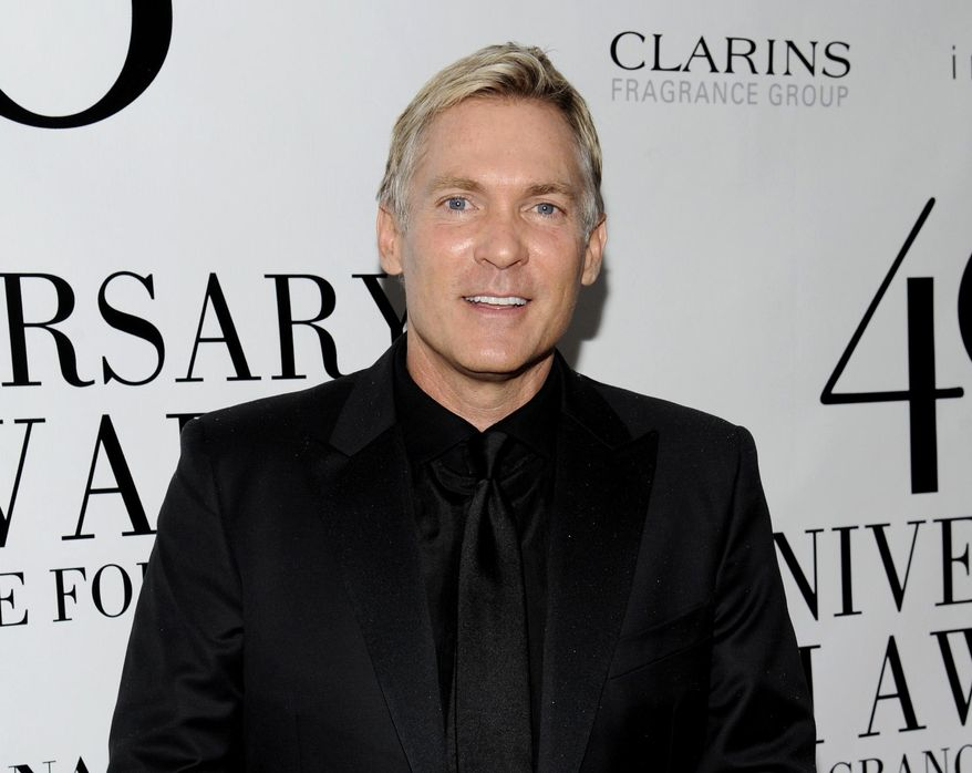 """FILE - This May 21, 2012 file photo shows  Sam Champion at the FiFi Fragrance Awards at Alice Tully Hall in New York. Champion's new Weather Channel morning program, """"America's Morning Headquarters with Sam Champion,"""" or, for short, """"AMHQ,"""" debuts March 17. (AP Photo/Evan Agostini, file)"""
