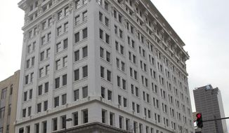 This March 7, 2014, photo shows the Boyle building that is awaiting renovation in downtown Little Rock, Ark. Little Rock Mayor Mark Stodola said the building will be developed into a hotel.  (AP Photo/The Arkansas Democrat-Gazette, Benjamin Krain)