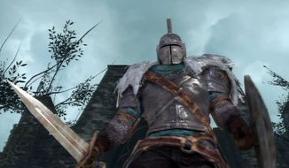 A cursed knight attempts to survive in the video game Dark Souls II.