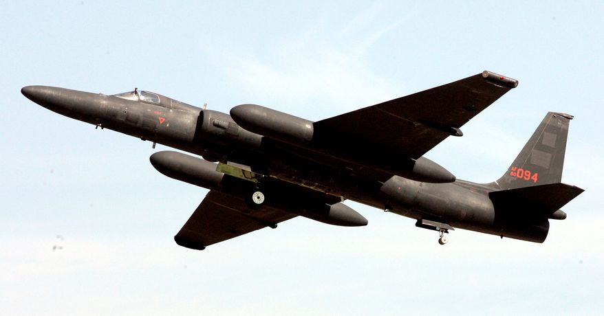 ** FILE ** In this photo taken on Oct. 12, 2008, a U.S. Air Force U-2 plane takes off during an Air Power Day at the U.S. airbase in Osan, south of Seoul, South Korea. On Wednesday, June 3, 2009, an Air Force spokeswoman said that the United States is planning to retire its fabled U-2 spy planes from South Korea and replace them with unmanned drones. (AP Photo/ Lee Jin-man)