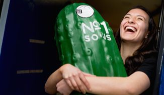 "Pickle Power: ""Our pickles and our foods are still very much living,"" says Caitlin Roberts of Number 1 Sons. ""That's part of the fun. The flavors can still kind of evolve."" (Andrew Harnik/The Washington Times)"