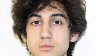 "FILE - This file photo released Friday, April 19, 2013 by the Federal Bureau of Investigation shows Boston Marathon bombing suspect Dzhokhar Tsarnaev. In court documents filed Monday, March 17, 2014, prosecutors said Tsarnaev should not be allowed to see autopsy photos that will not be used at his trial. They said allowing the man accused of killing them to see photos of their mutilated bodies ""would violate the victims' rights to dignity and privacy and subject them to needless harm and suffering.""  (AP Photo/Federal Bureau of Investigation, File)"