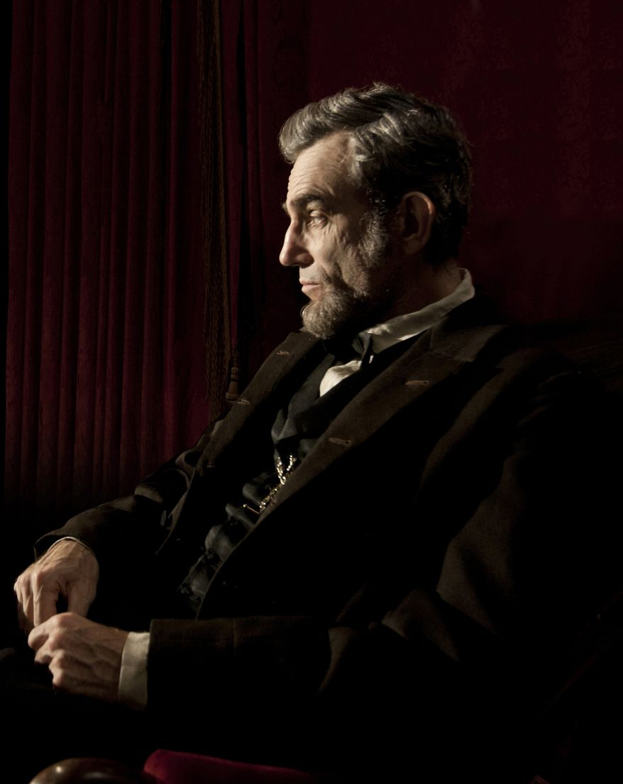 """This publicity film image released by DreamWorks and Twentieth Century Fox shows Daniel Day-Lewis portraying Abraham Lincoln in the film """"Lincoln.""""  (AP Photo/DreamWorks, Twentieth Century Fox, David James, file)"""