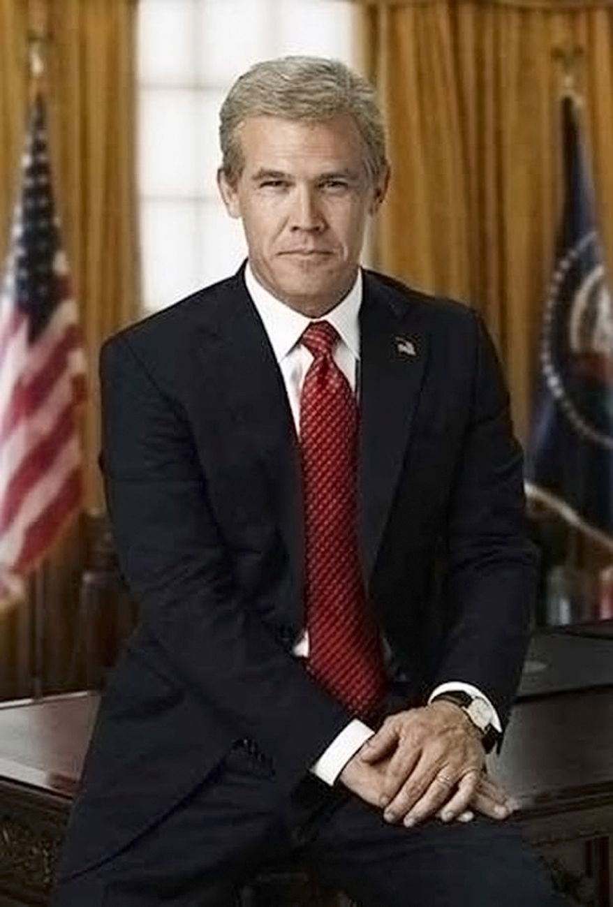 Director Oliver Stone chronicled George W. Bush (played by Josh Brolin) in 2008.