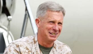 "Lt. Gen. Thomas Waldhauser disclosed that in a one-on-one meeting, Marine Commandant Gen. James F. Amos ordered him to ""crush†all desecration defendants and run them out of the Corps. He said he refused."