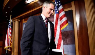 Former Massachusetts Sen. Scott Brown, a Republican, is exploring the possibility of running for senate in his new home state of New Hampshire. The seat is currently occupied by Sen. Jeanne Shaheen, a Democrat. (Associated press)
