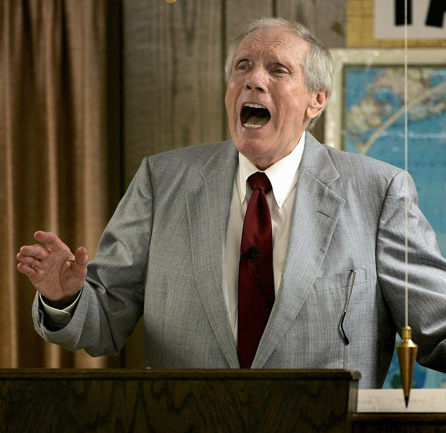 Fred Phelps founded the Westboro Baptist Church in Topeka in 1955, and it is known for denouncing homosexuality and protesting at soldiers' funerals. (Associated Press)