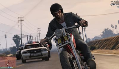 "FILE - This file photo released by Rockstar Games shows a screen shot from the video game, ""Grand Theft Auto V."" The big-budget, post-apocalyptic drama ""The Last of Us"" and the independent voyeuristic coming-of-age story ""Gone Home"" both lead the Game Developers Choice Awards in San Francisco, honoring the best video games of the past year with five nominations each, including video game of the year. Other titles up for the top prize at the Wednesday, March 19, 2014 ceremony include ""Grand Theft Auto V,"" ""Tomb Raider"" and ""Super Mario 3D World.""  (AP Photo/Rockstar Games, file)"