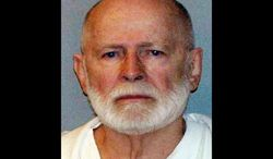 """** FILE ** This file June 23, 2011, booking photo provided by the U.S. Marshals Service shows James """"Whitey"""" Bulger, captured in Santa Monica, Calif., after 16 years on the run. (AP Photo/U.S. Marshals Service, File)"""