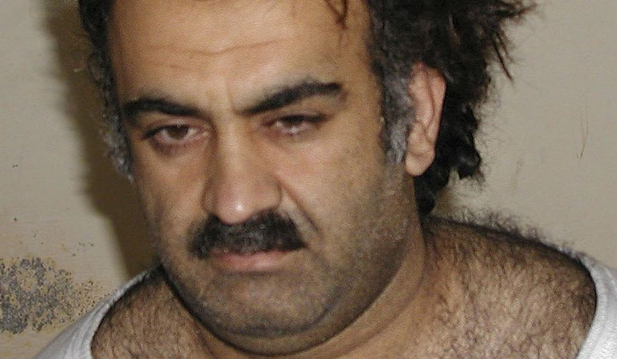 Khalid Sheikh Mohammed is seen shortly after his capture during a raid in Pakistan in this March 1, 2003, file photo. (AP Photo, File)