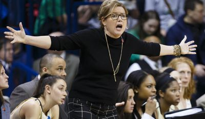 Vanderbilt head coach Melanie Balcomb reacts to a call during the second half against Arizona State in a first-round game at the NCAA women's college basketball tournament, Saturday, March 22, 2014, in Toledo, Ohio. (AP Photo/Rick Osentoski)