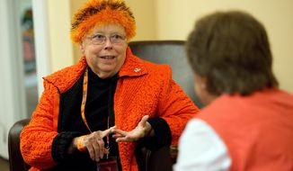 This photo provided by Oregon State University shows Beth Ray, wife of university president Ed Ray. Beth Ray passed died Friday, March 21, 2014, after battling lung cancer. She was 67. (AP Photo/Oregon State University)
