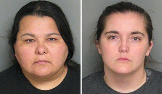 Christian Jessica Deanda, left, Eraca Dawn Craig, right. (Monterey County Sheriff's Office via NBC 4)
