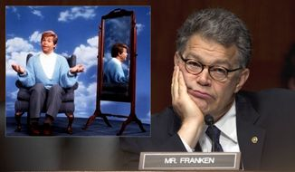 """""""I'm good enough, I'm smart enough, and doggone it, people like me."""" Al Franken (Stuart Smalley) won by a margin of 312 votes to become a U.S. Senator from Minnesota.  (AP Photo)"""