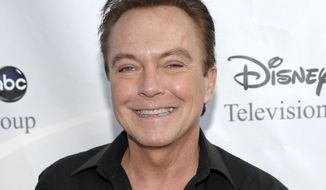 """** FILE ** This Aug. 8, 2009, file photo shows actor-singer David Cassidy, best known for his role as Keith Partridge on """"The Partridge Family,"""" arrives at the ABC Disney Summer press tour party in Pasadena, Calif. (AP Photo/Dan Steinberg, File)"""