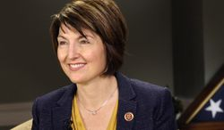 Rep. Cathy McMorris Rodgers, Washington Republican, is seen here Jan. 28, 2014, on Capitol Hill in Washington. (Associated Press) ** FILE **