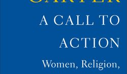 """This book cover image released by Simon & Schuster shows, """"A Call to Action: Women, Religion, Violence, and Power,"""" by Jimmy Carter. (AP Photo/"""