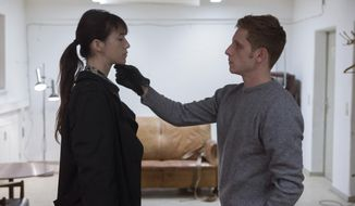 "This image released by Magnolia Pictures shows Charlotte Gainsbourg, left, and Jamie Bell in a scene from ""Nymphomaniac."" (AP Photo/Magnolia Pictures, Christian Geisnaes)"
