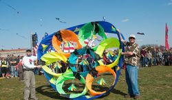 Professional kitefliers, amateurs and kids are welcome to make and fly kites at the event. Participants must register Saturday.