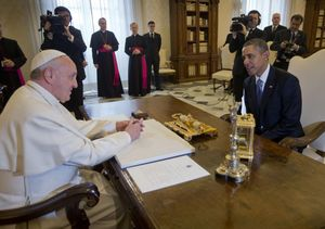 "Obama tells Pope Francis he is a ""great admirer"""