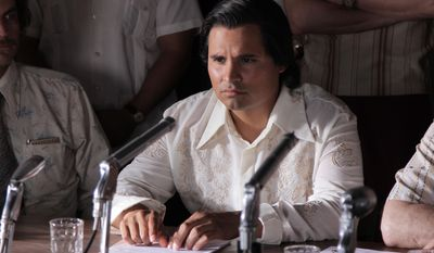 """This photo released by Pantelion Films shows Michael Pena as Cesar Chavez in a scene from """"Cesar Chavez."""" The new biopic opens Friday, March 28, 2014. (AP Photo/Pantelion Films, file)"""