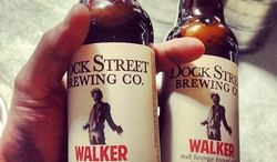 The Dock Street Brewing Co. has created the Dock Street Walker for diehard zombie fans, which is brewed using wheat, oats, flaked barley, organic cranberries and smoked goat brains. (Dock Street Brewing Co. via Instagram)