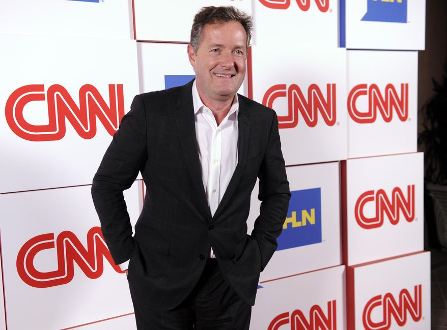 """FILE - This Jan. 10, 2014 file photo shows Piers Morgan of the CNN show """"Piers Morgan Live"""" at the CNN Worldwide All-Star Party, in Pasadena, Calif. (Photo by Chris Pizzello/Invision/AP, File)"""