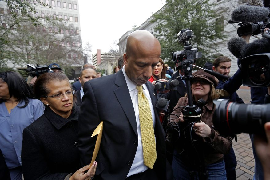 Trouble: Former New Orleans Mayor C. Ray Nagin was convicted of bribery charges in February. Last week, California state Sen. Leland Yee was arrested on federal gun trafficking and corruption charges, Charlotte, N.C., Mayor Patrick Cannon resigned after he was charged with bribery, and Gordon Fox stepped down as Rhode Island House speaker after an FBI raid. (Associated Press)