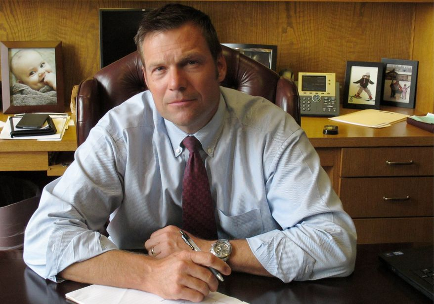 Kansas Secretary of State Kris Kobach is confident in the Friday ruling, saying the Constitution gives states the right to determine voter qualifications. (Associated Press)
