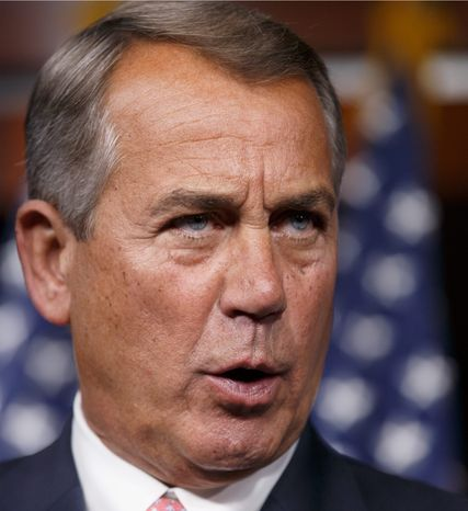 House Speaker John A. Boehner says he won't bring a Senate bill that would fund federal unemployment-compensation benefits up for a vote in his chamber. He insists it include jo