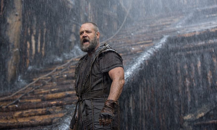 "Russell Crowe stars in ""Noah,"" a big-budget epic that took in $44 million during its opening weekend, making it the No. 1 movie in the country despite controversies about its adherence to the biblical story. (Paramount Pictures via Associated Press)"
