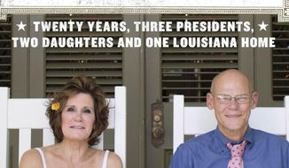 "This book cover image released by Blue Rider Press shows ""Love & War: Twenty Years, Three Presidents, Two Daughters and One Louisiana Home,"" by James Carville and Mary Matalin. (AP Photo/Blue Rider Press)"