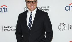 """FILE - In this Sept. 10, 2013 file photo, actor Bradley Whitford arrives at the PaleyFest Previews: Fall TV show """"Trophy Wife"""" at The Paley Center for Media in Beverly Hills, Calif. With A-listers like Matthew McConaughey, Julia Roberts and Halle Berry jumping to TV, Whitford marvels at how any show-biz stigma of the small screen is now a thing of the past. (Photo by Paul A. Hebert/Invision/AP, File)"""