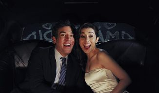 """This image released by CBS shows Josh Radnor as Ted, left, and Cristin Milioti as Tracy  in a scene from the finale of """"How I Met Your Mother,"""" that aired Monday, March 31, 2014. The CBS comedy """"How I Met Your Mother"""" attracted its biggest audience as it said farewell. After nine years, the show drew 12.9 million viewers for its series finale Monday. That's when viewers finally found how actor Josh Radnor's character met his wife. (AP Photo/CBS, Ron P. Jaffe)"""