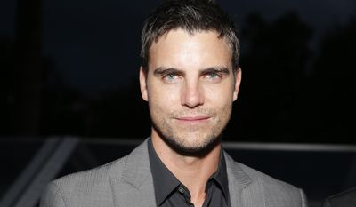 """FILE - In this May 17, 2013 file photo, actor Colin Egglesfield attends a benefit held by Mammoth Entertainment and LyonHeartLove Foundation to protect illegally poached African Rhino in Cannes, southern France. Authorities say Egglesfield has been arrested on allegations that he damage property at an Arizona arts festival. Tempe police say the 41-year-old actor known for his roles on """"The Client List"""" and """"All My Children"""" was arrested around 2:30 a.m. Saturday, March 29, 2014, on charges of disorderly conduct and criminal damage. (Photo by Todd Williamson/Invision/AP, file)"""