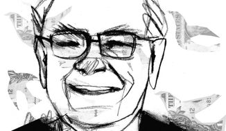 Illustration of Warren Buffet by Donna Grethen/Tribune Content Agency