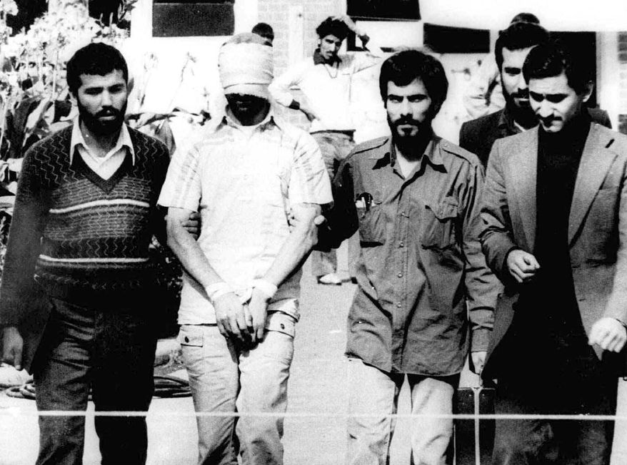 American diplomats being held hostage by Iranian terrorists at the U.S. Embassy in Tehran from 1979-1980        Associated Press photo