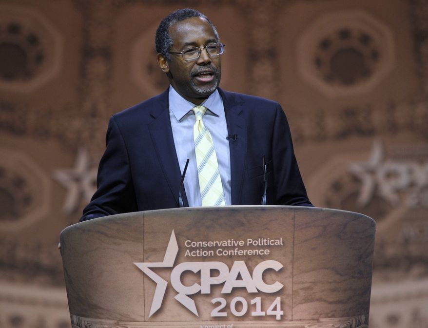 ** FILE ** Retired surgeon Ben Carson. (Associated Press)