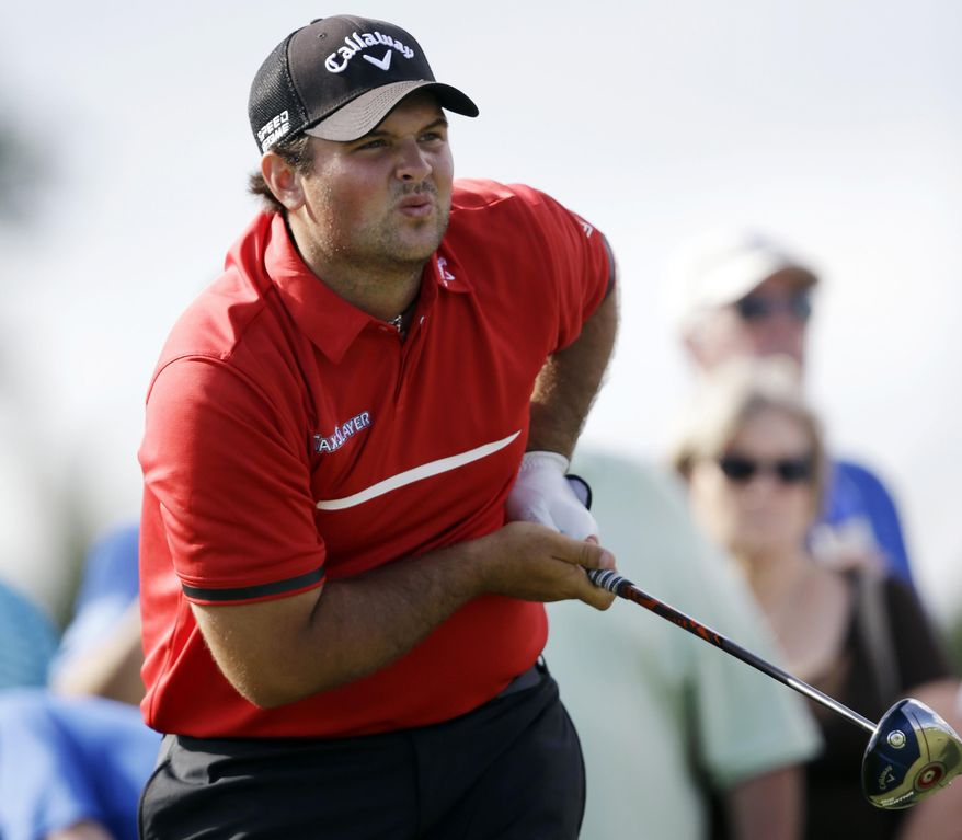 ADVANCE FOR WEEKEND EDITIONS, APRIL 5-6 - FILE - In this March 9, 2014, file photo, Patrick Reed watches his shot on the 11th hole during the final round of the Cadillac Championship golf tournament in Doral, Fla. The rookie class at Augusta National might be the strongest ever at the Masters, from Jordan Spieth and Patrick Reed to Victor Dubuisson and Jimmy Walker. (AP Photo/Wilfredo Lee, File)