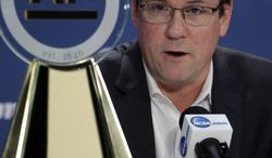 Wichita State's head coach Gregg Marshall speaks at a news conference Thursday, April 3, 2014, in Dallas. Marshall was named the AP College Basketball Coach of the Year. (AP Photo/David J. Phillip)