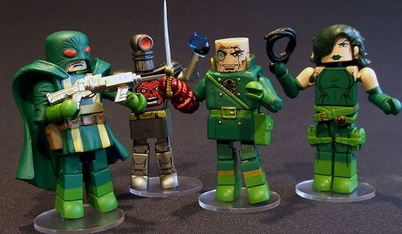 Diamond Select Toys' Series 54 Minimates includes a Hydra Elite soldier, Robot Red Skull, Baron Strucker and Madame Hydra, a.k.a. Viper. (Photograph by Joseph Szadkowski / The Washington Times)